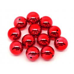 1x große rote Acryl Perle 20mm glatt - Schmuckzubehör
