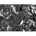 23g dunkelsilberfarben Schüssel Pailletten 6mm runde Cup silberfarben Pailletten - Bastelbedarf Pailletten