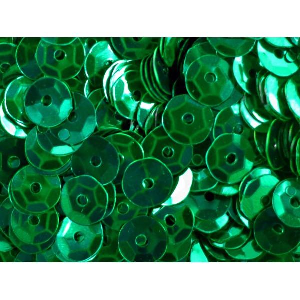 23g dunkelgrüne Schüssel Pailletten 6mm runde Cup grüne Pailletten ...