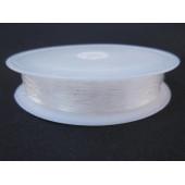 12m flacher elastischer Nylondraht 0,8mm Rolle transparente Perlenschnur - Schmuckzubehör