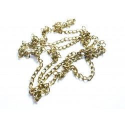 Ca. 80cm altgold Kette 2,5mm goldfarbene Gliederkette - gold Schmuckzubehör Schmuckkette