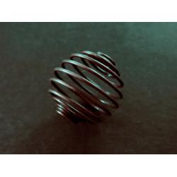 2x bronze Spiralen Metallperle ca. 17x14mm bronzefarben - bronze Schmuckzubehör Metallperlen