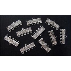 10x Kettenverbinder 22mm Kettenverteiler silberfarben Chandelier Verteiler - Schmuckzubehör