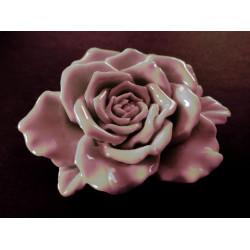 1x große hellrosa Rose Anhänger ca. 48x15mm babyrosa Schmuckanhänger - Schmuckzubehör