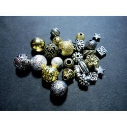 10g 5-farbiger Metallperlen Mix Perlenmix Spacer - Schmuckzubehör Metallperlen