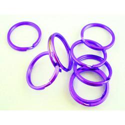 Lila Schlüsselring 25x2mm Ring violett stabil und schlicht - Schlüsselanhänger selber machen
