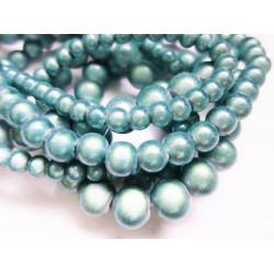 Hellblaue Miracle Glasperlen irisierende Glasperlen - Schmuckzubehör
