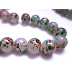 5 grün orange Opal Glasperlen 12mm bunte Glasperlen - Schmuckzubehör