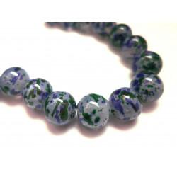 5 grün violett Opal Glasperlen 12mm bunte Glasperlen - Schmuckzubehör