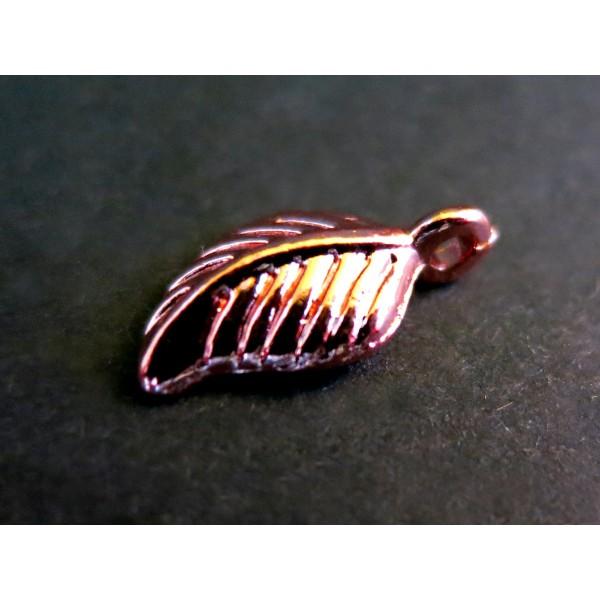 Rosegold Anhänger Blatt 15x7mm rose gold Schmuckanhänger Schmuckzubehör