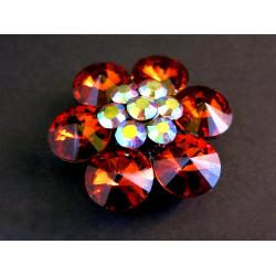 1x große Schiebeperle 33x13mm orange Perle mit 2 Löchern und AB-Effekt - Schmuckzubehör