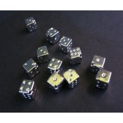 5x hellsilber 6x6mm Würfel Metallperlen diagonal Würfelperlen Spacer - Schmuckzubehör Metallperle