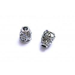 2x filigrane silber Perlenkappen ca. 10x8x8mm silberfarbene leichte Perlen Kappen - Schmuckzubehör Perlenkappe
