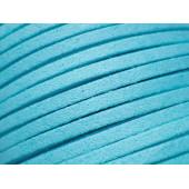 1m hellblaues Stoffband 3x1mm für Halsband - Schmuckzubehör Schmuckband
