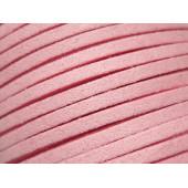 1m rosa Stoffband 3x1mm für Halsband - Schmuckzubehör Schmuckband