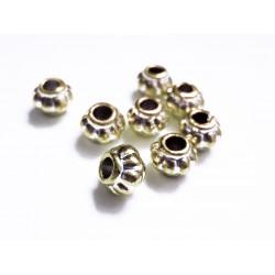 8x hellgold Acryl Perlen 8x6mm Kürbisform Grosslochperle - Acryl Schmuckzubehör
