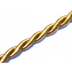 1m honigfarbene Kordel 6mm honigfarbene Schmuckband mit seidigem Glanz - Schmuckzubehör Kordel für Halsband