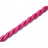 1m fuchsia Kordel 4mm fuchsia Schmuckband seidiger Glanz - Schmuckzubehör Kordel für Halsband