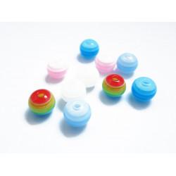 10 European bunt geschliffen Glasperlen Beads 14x8mm