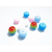 10 gestreifte bunte Acryl Perlen 8mm Kugelform Perlenmix - Acryl Schmuckzubehör