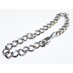 Metall Armband ca. 21,5cm silber Gliederarmband Bettelarmband - Schmuckzubehör