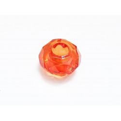1x orange European Bead Acrylperle ca. 14x8mm facettierte orange Großlochperle - European Schmuckzubehör