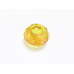 1x gelbe European Bead Acrylperle ca. 14x8mm facettierte gelbe Großlochperle - European Schmuckzubehör