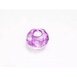 1x lila European Bead Acrylperle ca. 14x8mm facettierte violett Großlochperle - European Schmuckzubehör