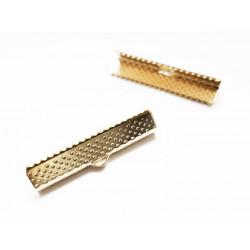 10x KC Gold Bandklemme 30mm KC Goldfarben - KC Gold Schmuckzubehör