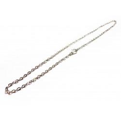 1x Silber Halskette ca. 41,5cm silber Gliederkette mit Karabinerhaken - Schmuckzubehör
