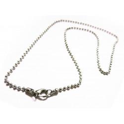 1x Silber Halskette ca. 46cm silber Kugelkette mit Karabinerhaken - Schmuckzubehör