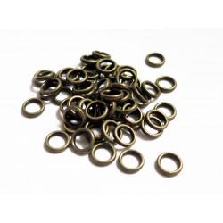 50x bronze Ring 6mm x 0,8mm Stärke geschlossener runder bronzefarbener Ring - bronze Schmuckzubehör