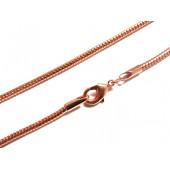 1x rose gold Halskette ca. 80cm rosegold Schlangenkette mit Karabinerhaken - rosegold Schmuckzubehör