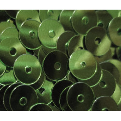 23g grüne Pailletten 5mm runde flache Pailletten - Bastelbedarf