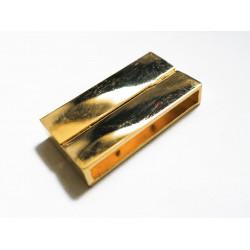 1x gold Magnet Verschluss 38x19x7mm gold Einklebverschluss - gold Schmuckzubehör