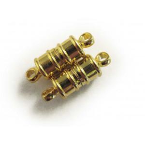 Zylinderförmiger Magnetverschluss goldfarben 17x5mm