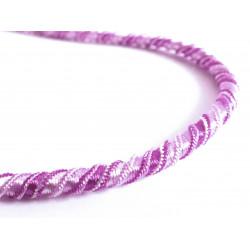 1m elastische Kordel 6mm lila Schmuckband mit seidigem Glanz - Schmuckzubehör Kordel für Halsband