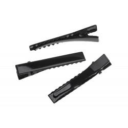 Schwarze Haarklammer ca. 46x7mm schwarzer Rohling für Haarklammern - Haarklemmen selber machen