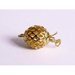 1x gold Kastensteckverschluss 10x18,5mm gold Kastenverschluss Steckverschluss - Schmuckzubehör Schmuckverschluss
