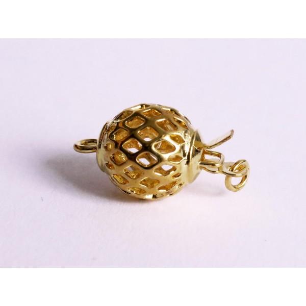 Schmuckzubehör  1x gold Kastensteckverschluss 10x18,5mm gold Kastenverschluss ...