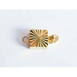 1x gold Kastensteckverschluss 16x8x4,5mm gold Kastenverschluss gold Steckverschluss - Schmuckzubehör Schmuckverschluss