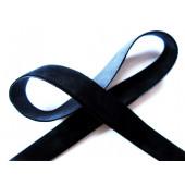 1m schwarzes Samtband Breite 13mm für Halsband und Kropfband - Schmuckzubehör Samtband