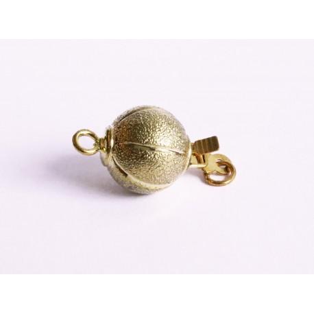 1x gold Kastensteckverschluss 17,5x10mm gold Kugel Kastenverschluss Steckverschluss - Schmuckzubehör Schmuckverschluss