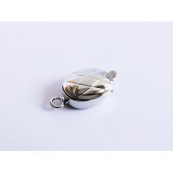 1x ovaler silber Kastensteckverschluss 17x10x5mm silber Kastenverschluss Steckverschluss - Schmuckzubehör Schmuckverschluss
