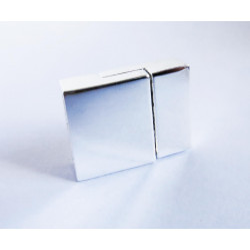 1x hellsilber Magnet Verschluss 20x14x6mm hellsilber Einklebverschluss - Schmuckzubehör Schmuckverschluss
