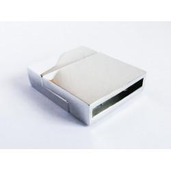1x hellsilber Magnet Verschluss 24x20x6mm platinfarbener Einklebverschluss - Schmuckzubehör Schmuckverschluss