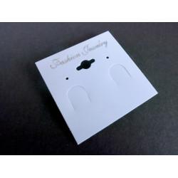 50 weisse Schmuckkarten 53x50mm weisses Schmuck Display Ohrringe Kunststoff - Schmuckzubehör