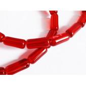1 Strang rote Glasperlen 10x4mm zylinder Tube transparente Glasperlen - Schmuckzubehör