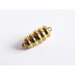 1x gold Magnet Verschluss 18x8mm gold Verschluss Zylinder - gold Schmuckzubehör