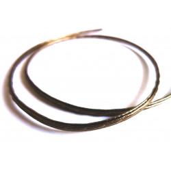 Ca. 1m synthetisches bronze Lederband 4x2mm Kunstlederband - Schmuckzubehör